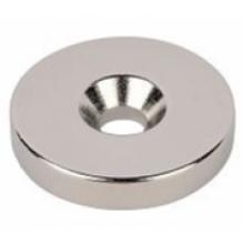 Неодимовый магнит диск с зенковкой 25*3.5/7.5*3