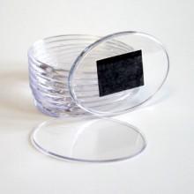 Овальный акриловый магнит 85х63